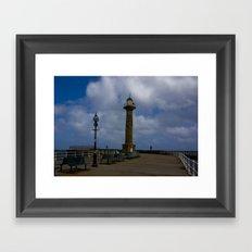 Harbour Light Whitby Framed Art Print