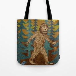 Bigfoot birthday card Tote Bag