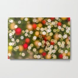 Colorful christmas lights in the background like pearls Metal Print