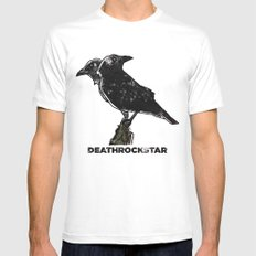 A Crow MEDIUM Mens Fitted Tee White