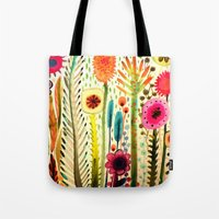 rose Tote Bags featuring printemps by sylvie demers