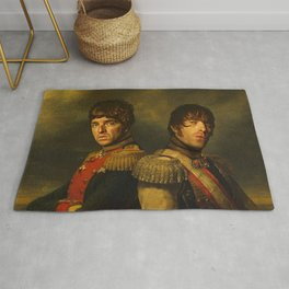 Noel Gallagher & Liam Gallagher - replaceface Rug