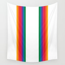 Retro Bright Rainbow - Straight Wall Tapestry
