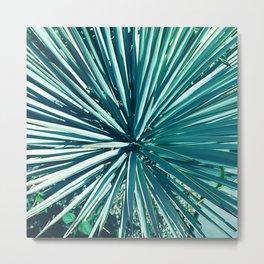 Exotic Aqua Green Succulent Cactus Metal Print