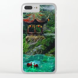 Tale of the Red Swans Clear iPhone Case