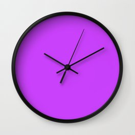 Collection . Neon . Purple Wall Clock
