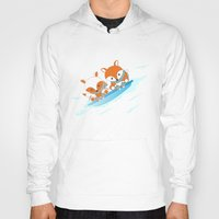skiing Hoodies featuring Skiing by HK Chik