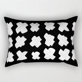 xx // kisses // blk Rectangular Pillow