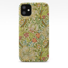 William Morris Golden Lily Vintage Pre-Raphaelite Floral Art iPhone Case