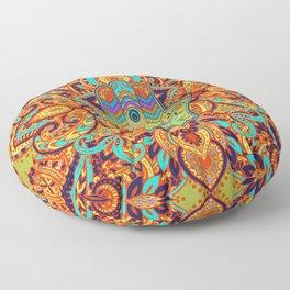 Colorful  Hamsa Hand -  Hand of Fatima Floor Pillow