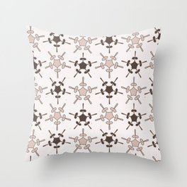 5 Point Star Rustic Texture Winter White Geometric Throw Pillow