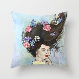Awake Asleep Throw Pillow