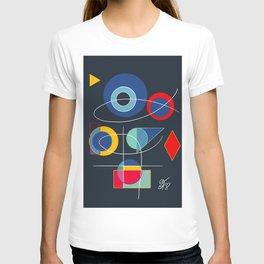 Joyful Abstract Composition Art T-shirt