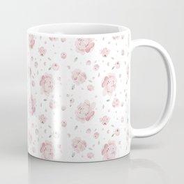 Pink watercolor Peonies pattern Coffee Mug