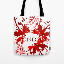 Red London Tote Bag