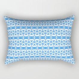 Dividers 02 in Blue over White Rectangular Pillow