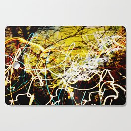 Chaos Tree - Light Painting Cutting Board