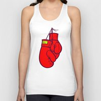 boxing Tank Tops featuring Boxing Gloves by Artistic Dyslexia