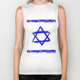 flag of israel 9-יִשְׂרָאֵל ,israeli,Herzl,Jerusalem,Hebrew,Judaism,jew,David,Salomon. Biker Tank