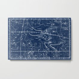 Taurus sky star map Metal Print