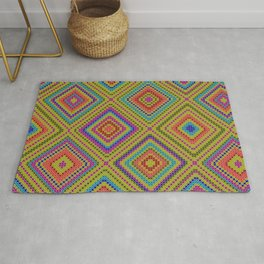 hang on to rhomb self Rug