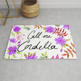 Call Me Cordelia - Purple Flowers Rug
