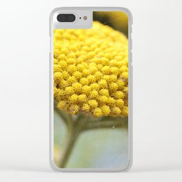 Vintage Yellow Yarrow Clear iPhone Case