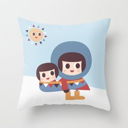 Ekymo and Baby Throw Pillow