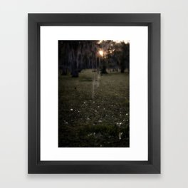 Rising Sun and Witch's Hair Framed Art Print