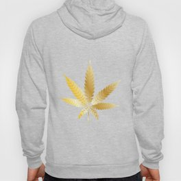 Gold Cannabis Leaf Hoody