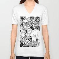 random V-neck T-shirts featuring Random by bayes bros