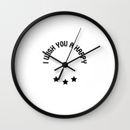 I wish you a happy labor day Wall Clock
