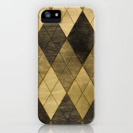 Wooden big diamond iPhone Case