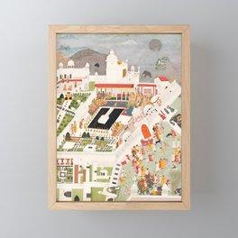 Diwali celebrations at Kotah,17th Century Framed Mini Art Print