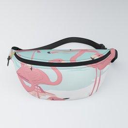 Kitschy Retro Flamingos Fanny Pack