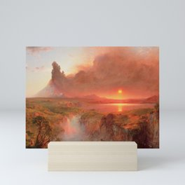 Ecuadorian Andes at Sunset, Cotopaxi volcano plains landscape painting by Frederic Edwin Church Mini Art Print