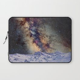 The star Antares, Scorpius and Sagitariuss over the hight mountains. The milky way. Laptop Sleeve