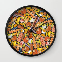 Ode to the Dutch Snacks by Veronique de Jong Wall Clock