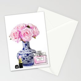 Chinoiserie decor with flowers Stationery Cards