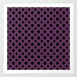 Purple Diamond Pattern Art Print