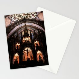 Inside Notre-Dame Basilica of Montreal Stationery Cards