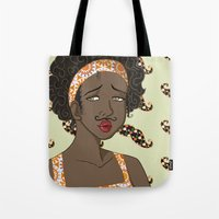 mustache Tote Bags featuring Mustache by Chouly-Shop