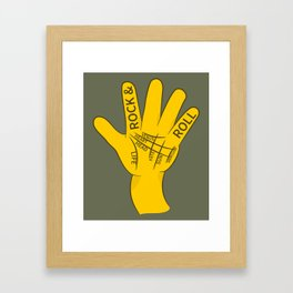 Palmistry Rock and Roll Framed Art Print