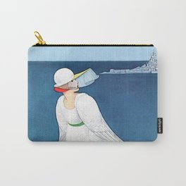 """George Wolfe Plank Art Deco Design """"On The Beach"""" Carry-All Pouch"""