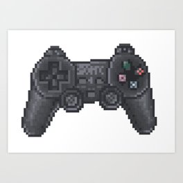 retro ps controller Art Print