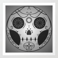 Day of the dead Skull Design Art Print