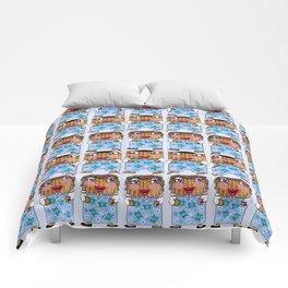 Matzo Boy and Matzo Girl together for Hanukkah! Comforters