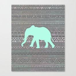 Mint Elephant  Canvas Print