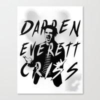 darren criss Canvas Prints featuring Darren Criss by kltj11