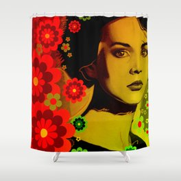 Flowe Girl Shower Curtain